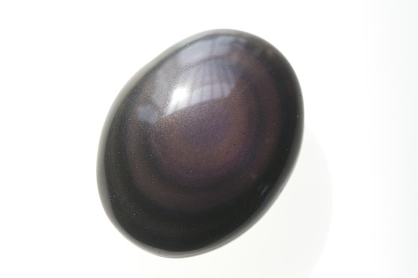 レインボーオブシディアン【3】天然石ルース・カボション(41.5×27.5mm)