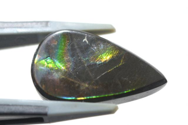 アンモライト【3】天然石ルース・カボション(12.5×9mm)