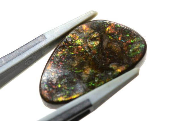 アンモライト【10】天然石ルース・カボション(12.5×9mm)