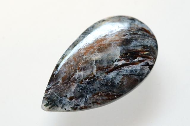アストロフィライト)【10】天然石ルース・カボション(28.5×16.5mm)