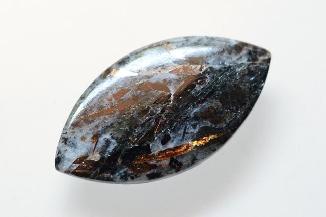 アストロフィライト)【14】天然石ルース・カボション(40×22mm)