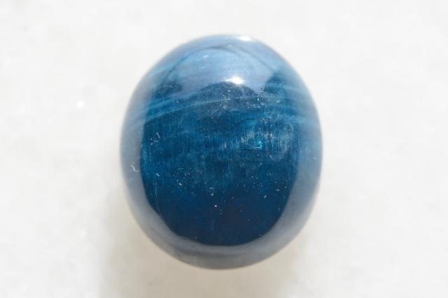 ブルーアパタイト【2】天然石ルース・カボション(21.5×15mm)