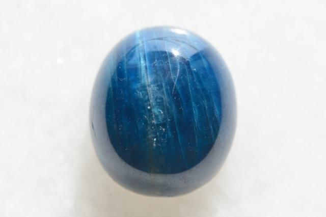 ブルーアパタイト【3】天然石ルース・カボション(27.5×13mm)