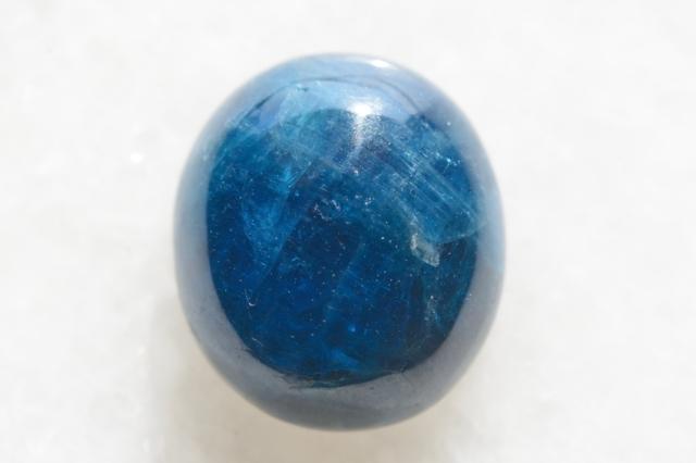 ブルーアパタイト キャッツアイ【6】天然石ルース・カボション(17×14.5mm)
