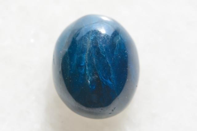 ブルーアパタイト【8】天然石ルース・カボション(18×12mm)