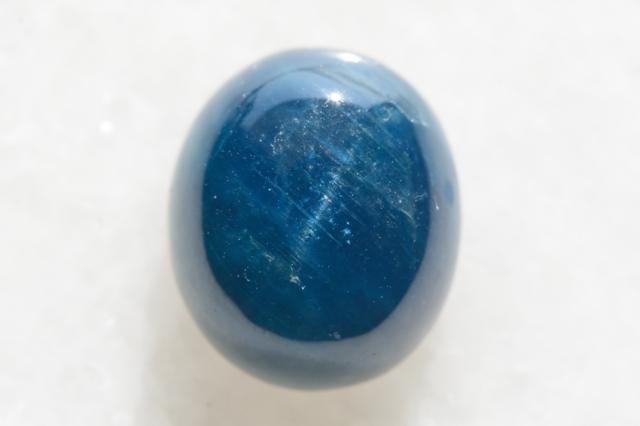 ブルーアパタイト キャッツアイ【9】天然石ルース・カボション(15×12.5mm)