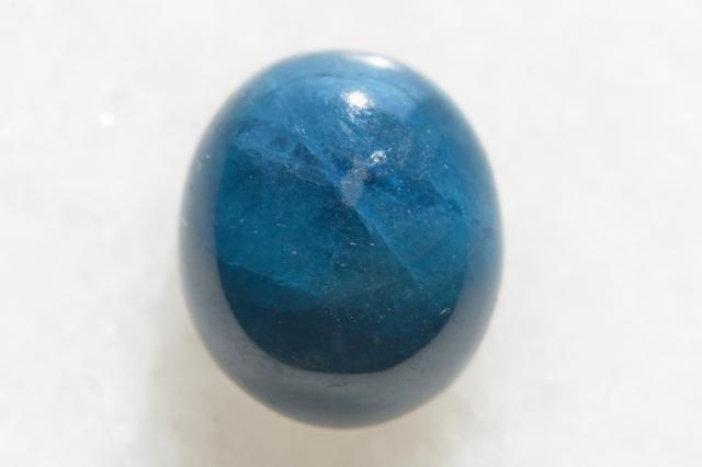 ブルーアパタイト【10】天然石ルース・カボション(15×13mm)