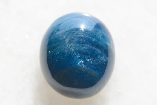 ブルーアパタイト キャッツアイ【12】天然石ルース・カボション(17×15mm)