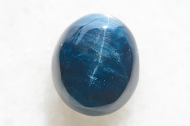 ブルーアパタイト キャッツアイ【13】天然石ルース・カボション(20×16.5mm)