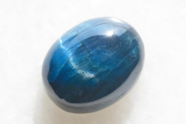 ブルーアパタイト キャッツアイ【15】天然石ルース・カボション(22×17.5mm)