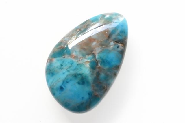 ブルーアパタイト【16】天然石ルース・カボション(30×19mm)