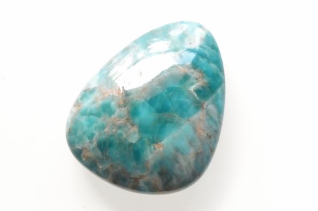 ブルーアパタイト【23】天然石ルース・カボション(30×24mm)