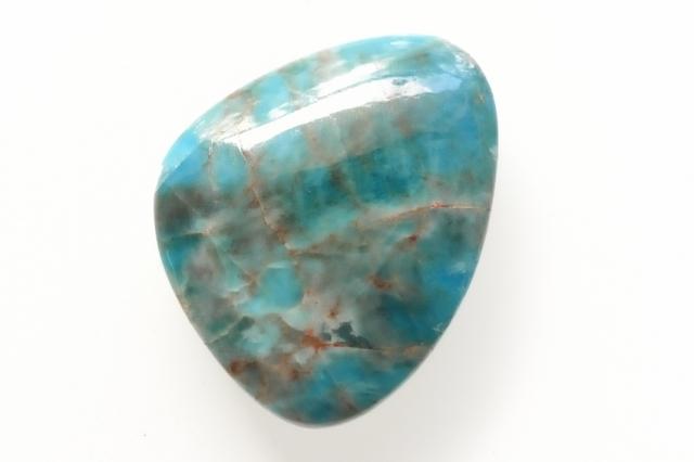 ブルーアパタイト【24】天然石ルース・カボション(27×21.5mm)