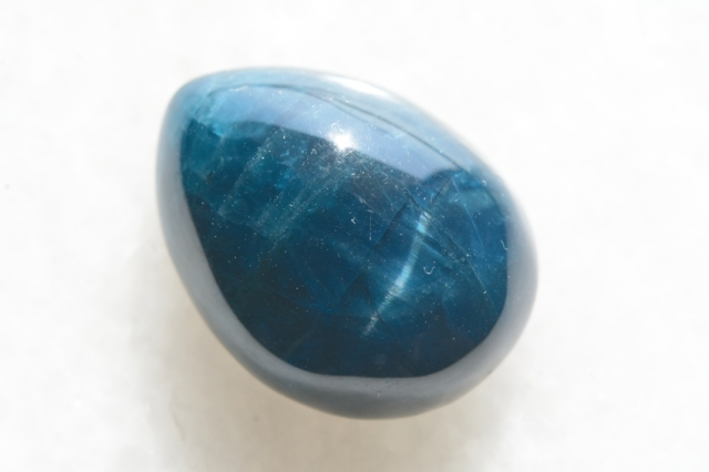 ブルーアパタイト キャッツアイ【30】天然石ルース・カボション(25×18.5mm)