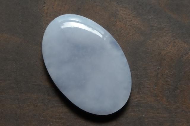 ブルーカルセドニー【3】天然石ルース・カボション(32×21.5mm)