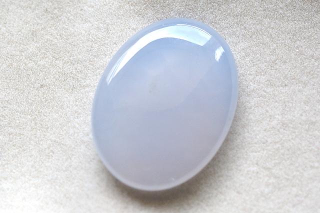 ブルーカルセドニー(ドゥルジー)【20】天然石ルース・カボション(34.5×25.5mm)