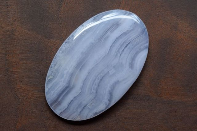 ブルーレースアゲート【1】天然石ルース・カボション(42.5×26.5mm)