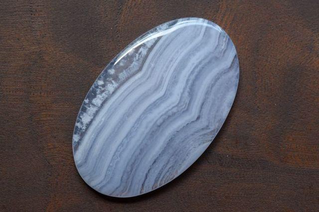 ブルーレースアゲート【2】天然石ルース・カボション(41.5×26mm)