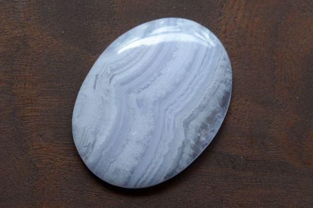 ブルーレースアゲート【10】天然石ルース・カボション(32×24mm)