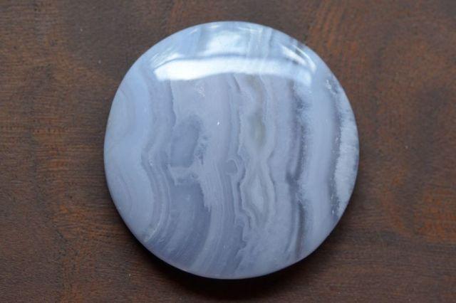 ブルーレースアゲート【12】天然石ルース・カボション(34.5×34.5mm)