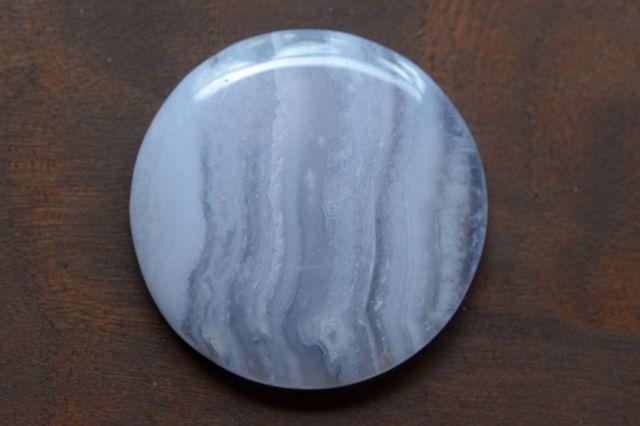 ブルーレースアゲート【13】天然石ルース・カボション(31×31mm)