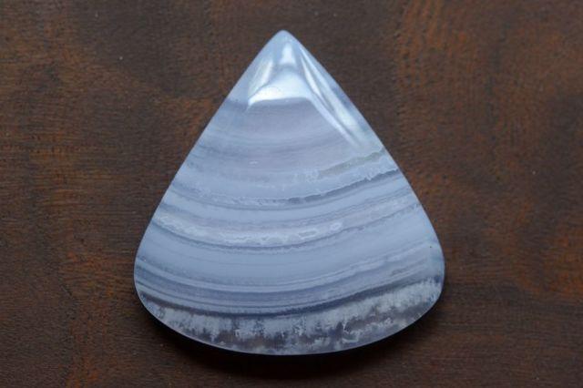 ブルーレースアゲート【15】天然石ルース・カボション(32×30.5mm)