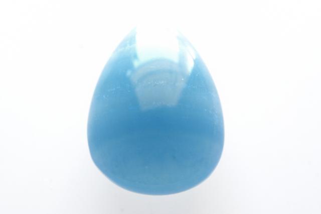 ブルーカルサイト(レムリアン・アクアティン・カルサイト)【12】天然石ルース・カボション(29×24mm)