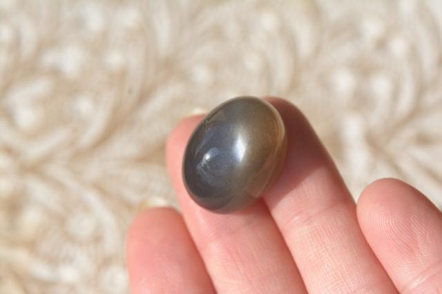 ブラックムーンストーンキャッツアイ 【8】天然石ルース・カボション(23×23mm)