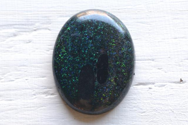 ブラックマトリックスオパール【6】天然石ルース・カボション(19×18mm)