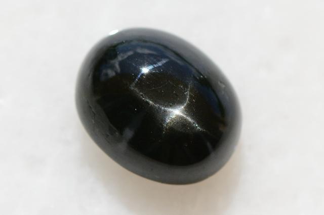 ブラックスター【20】天然石ルース・カボション (18.5×15mm)