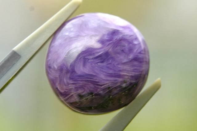 チャロアイト【26】天然石ルース・カボション(32×11.5mm)