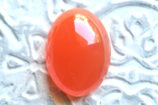 カーネリアン【26】天然石ルース・カボション (14×14mm)