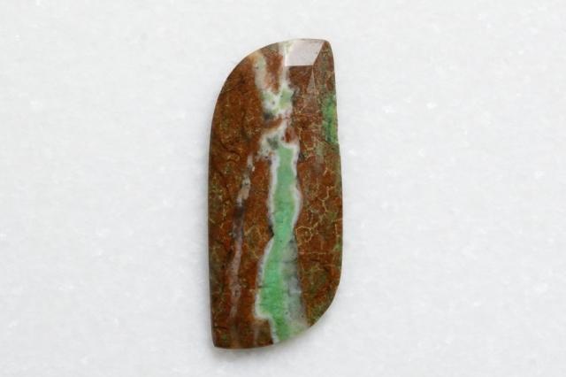 クリソプレーズ母岩付【7】 天然石ルース・カボション (35×15mm)