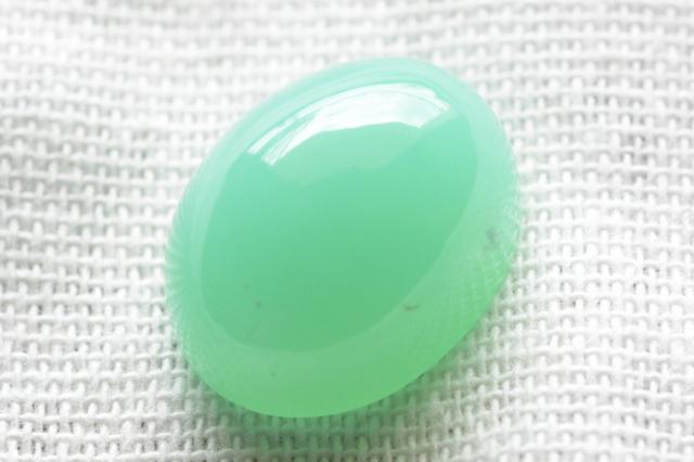 クリソプレーズ(オーストラリア産)【27】ルース・カボション(21×16.5mm)