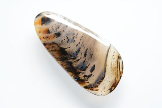 デンドリティックアゲート【27】天然石ルース・カボション (37.5×18mm)