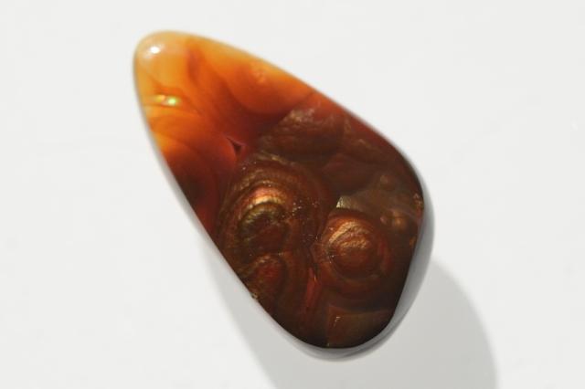 ファイヤーアゲート【10】天然石ルース・カボション(25×14mm)