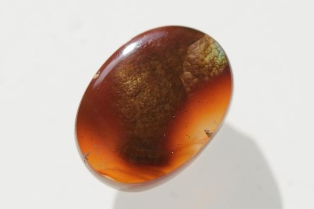 ファイヤーアゲート【16】天然石ルース・カボション(16.5×12mm)