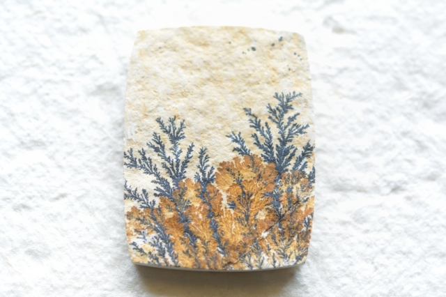 ジャーマン・デンドライト【4】天然石ルース・カボション(36×27mm)
