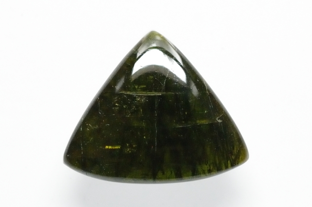 グリーントルマリン【2】天然石ルース・カボション(26×31mm)