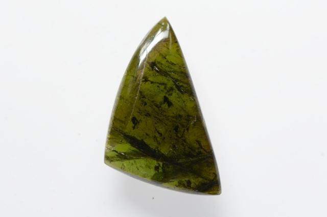 グリーントルマリン【6】天然石ルース・カボション(33×21mm)