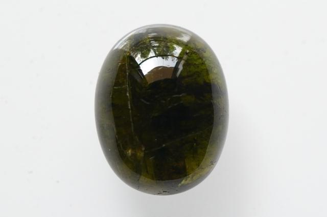 グリーントルマリン【10】天然石ルース・カボション(19×15mm)