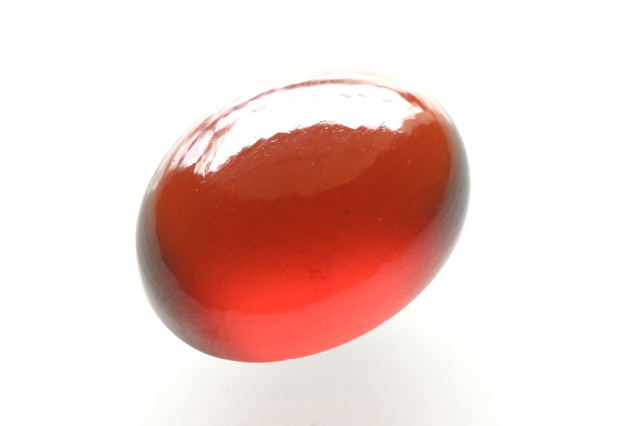 ヘソナイト(オレンジガーネット)【1】 天然石ルース・カボション(24×18mm)