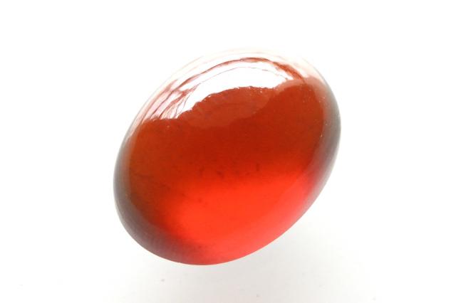 ヘソナイト(オレンジガーネット)【2】 天然石ルース・カボション(21.5×16.5mm)