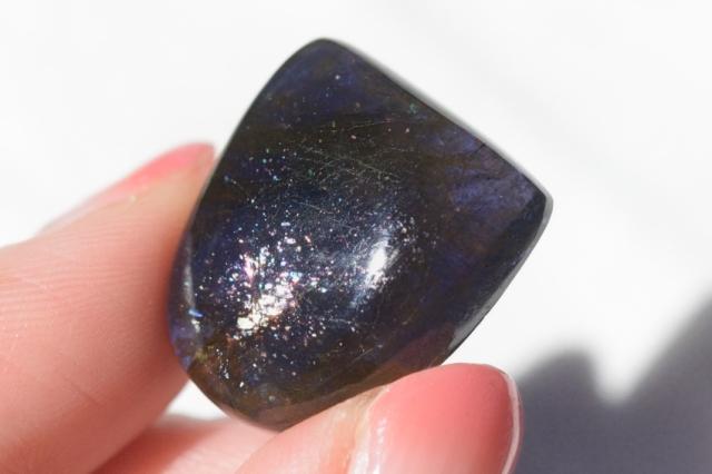 アイオライトサンストーン【11】天然石ルース・カボション(32.5×20.5mm)