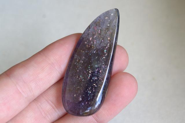 アイオライトサンストーン【28】天然石ルース・カボション(30×22.5mm)