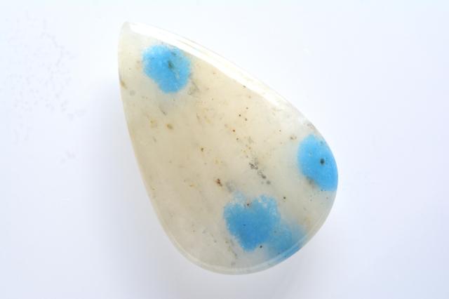 K2ストーン(K2ブルー)【15】天然石ルース・カボション(32×24.5mm)