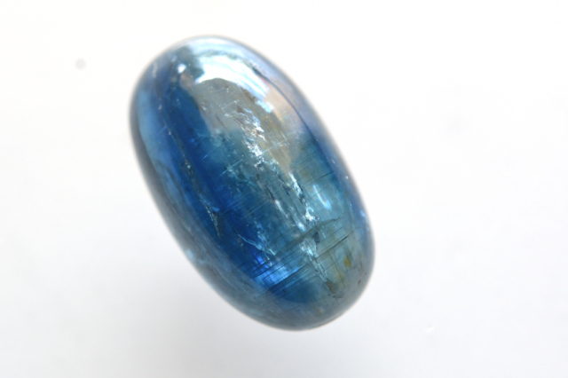 カイヤナイト(アフリカ産)【12】天然石ルース・カボション(20×12.5mm)