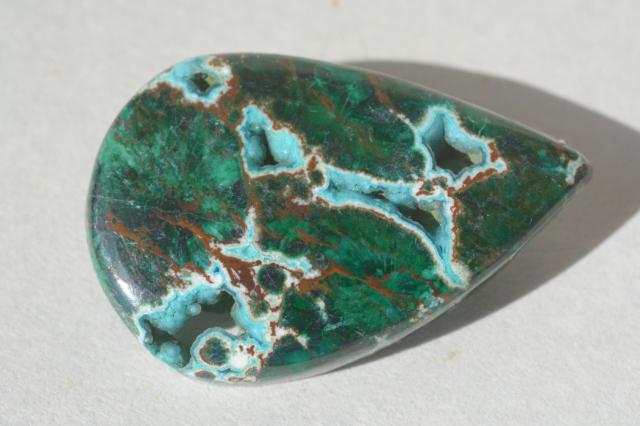クリソコラ【12】天然石ルース・カボション(52×36.5mm)