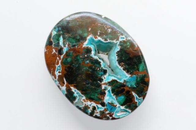 クリソコラ【15】天然石ルース・カボション(42×32mm)