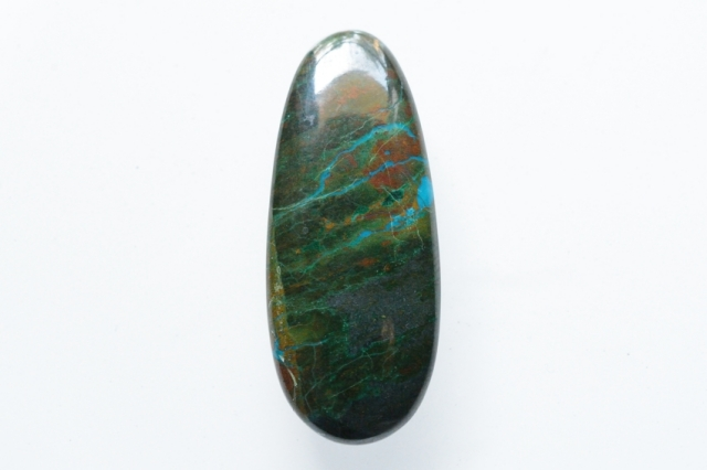 クリソコラ【22】天然石ルース・カボション(42×17mm)